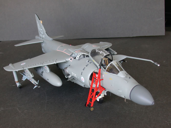Converting The 1 24 Airfix Sea Harrier Into To An Fa 2