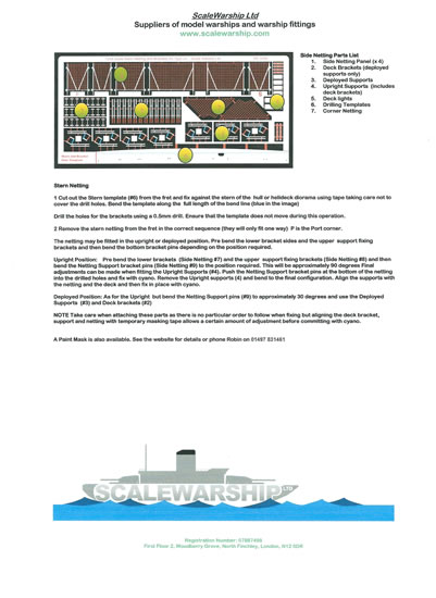 Scalewarship com 1/72 scale Type 23 Frigate Helideck Review