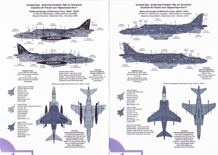 Air Graphic Decals 1//72 OPERATION ENDURING FREEDOM AIR POWER OVER AFGHANISTAN