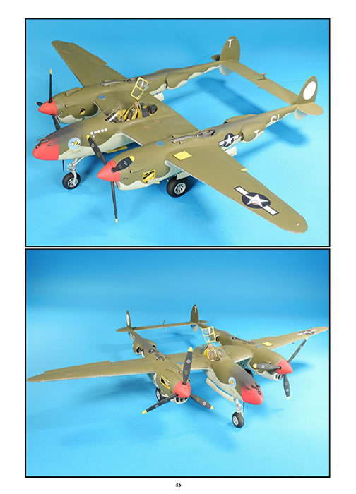 TRUMPETER 1//32 SCALE P-38 LIGHTNING MODEL MANUAL BY MIKE ASHEY PUBLISHING