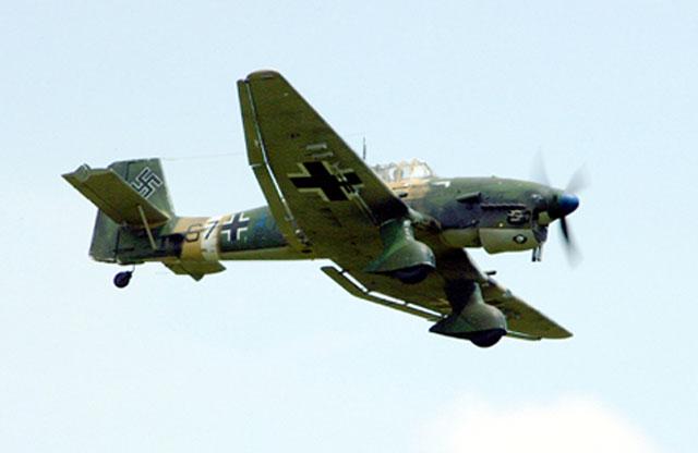 Ju-87 Stuka dive bomber,