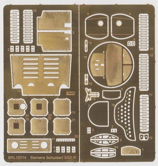 Brengun Models 1//32 SIEMENS SCHUCKERT D.III Photo Etch Update Set