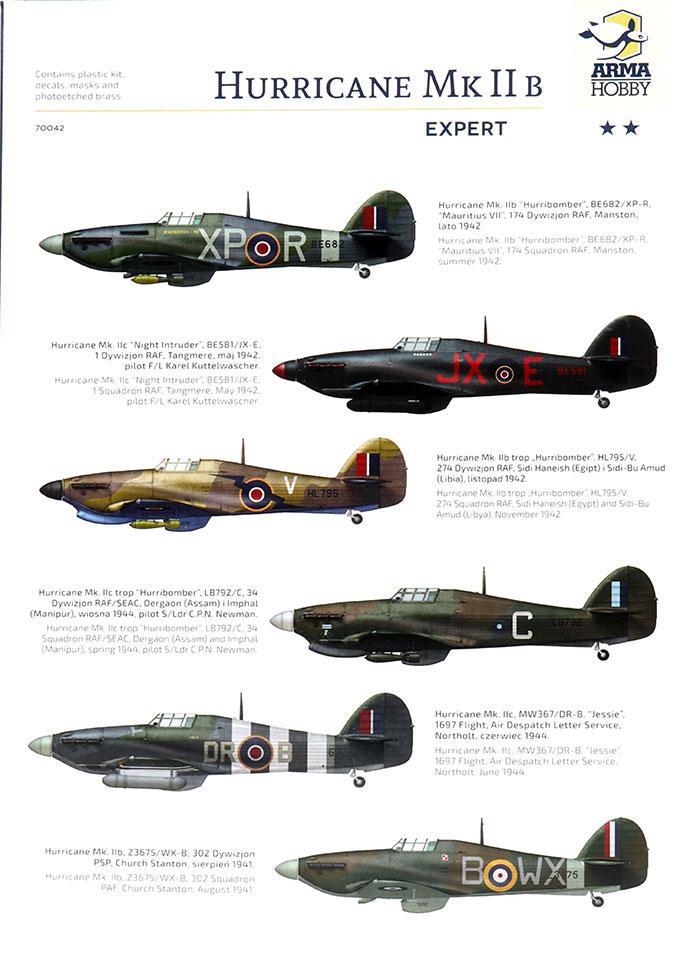 Arma Hobby Hawker Hurricane Mk II b//c Expert Set in 1:72 NEW