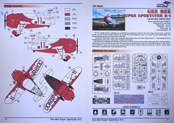 Dora Wings Kit No  DW8002 – Gee Bee R1 Racer Review by John