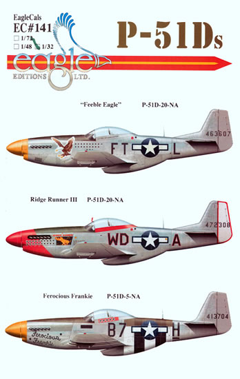 EagleCals Decals 1//32 NORTH AMERICAN P-51D MUSTANG Fighter