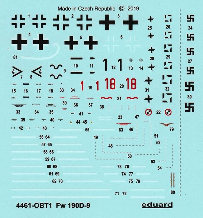 Eduard 4461 Super 44 Series 1:144th scale Fw190D-9