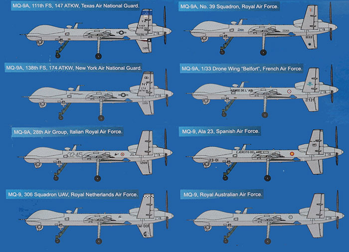 1//48 KINETIC MQ-9 REAPER UNMANNED AERIAL VEHICLE K48067