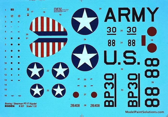 Roden 631 Boeing-Stearman PT-17 Kaydet 1//32 scale