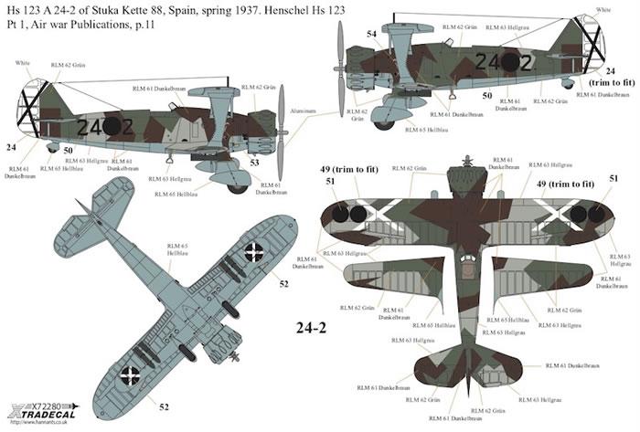 NEW 1:48 Xtradecal X48182 Henschel Hs-123A-1 /& Hs-123B-1